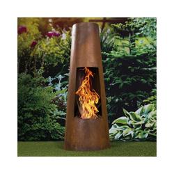 bonsport Feuerschale Feuersäule in Rostoptik, Maße: ca. 101 x 38 cm