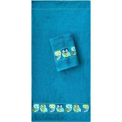 Dyckhoff Handtücher Eulen (2-St), mit süßen Eulen blau
