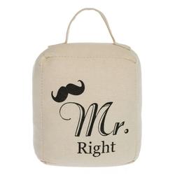 elbmöbel Bodentürstopper Türstopper mit Schlaufe, Türstopper: 15x13x8 cm Mr. Right Mustache
