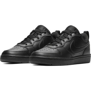 NIKE Court Borough Low 2 Sneaker Kinder black/black/black 37.5
