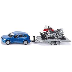 SIKU 2547 PKW mit Anhänger und Motorrad 1:55 Modellauto