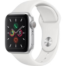 Apple Watch Series 5 (GPS) 40mm Aluminiumgehäuse Silber, Sportarmband Weiß