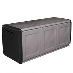 Aufbewahrungsbox mit deckel aus kunststoff, 1380 x 570 x 530 mm, grau
