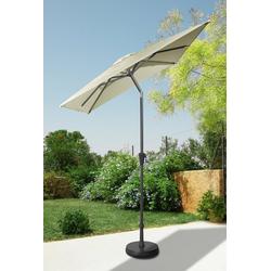 garten gut Sonnenschirm, LxB: 160x230 cm, abknickbar, ohne Schirmständer natur