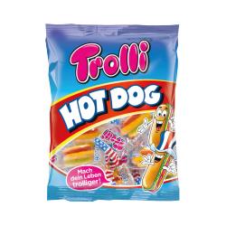 Trolli Fruchtgummi Schaumzucker Hot Dog 15 verpackte Hot Dogs