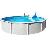 Pool Friends Stahlwandpool Set Grande 366 x 135 cm ohne Filteranlage