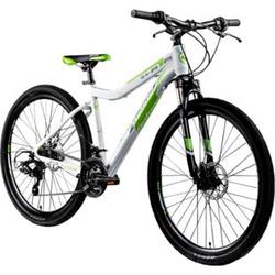 Galano GX-27,5 650B Mountainbike Hardtail MTB Fahrrad 27,5 Zoll Bike 21 Gang... weiß/grün, 45 cm
