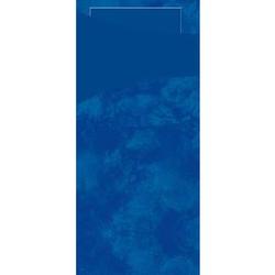DUNI Sacchetto Serviettentaschen, Tissue, Praktische Bestecktasche, 1 Karton = 5 x 100 Stück, Farbe: dunkelblau