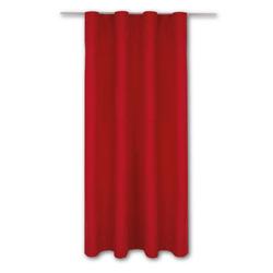 Vorhang, Bestlivings, Kräuselband (1 Stück), Thermogardine, blickdicht 140x245cm, hitzeabweisend und wärmeisolierend rot