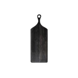Bloomingville Schneidbrett Bloomingville Serviertablett Akazie Schwarz 70 cm, Holz