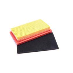 vhbw Luftfilter Set orange, schwarz für Rasenmäher wie Wolf 2098 346