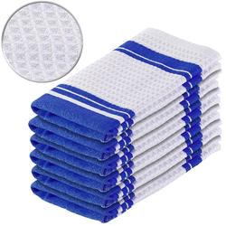 6er-Set Mikrofaser-Küchentücher z. Trocknen & Polieren, 3D-Waffelpiqué