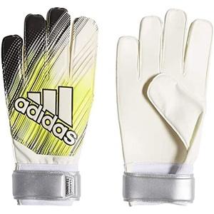 adidas Classic TRN Soccer Gloves, Black/Solar Yellow/White, 7.5