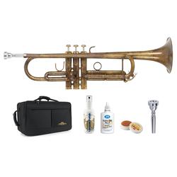 Lechgold TR-16V Bb-Trompete antik Deluxe Set