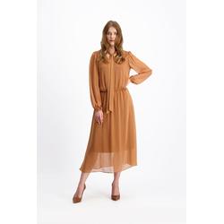 Lavard Elegantes zimtfarbenes Kleid 85424  36