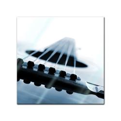 Bilderdepot24 Glasbild, Glasbild - Gitarrenkorpus 30 cm x 30 cm