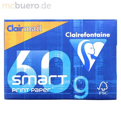 Kopierpapier A4 Clairmail smart 60g/qm weiß VE=500 Blatt