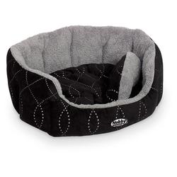 Nobby Hundebett oval Ceno schwarz/grau, Maße: 55 x 50 x 21 cm