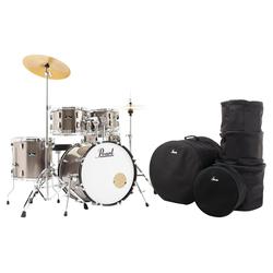 Pearl RS505C/C707 Roadshow Drumset Bronze Metallic Set mit Taschen