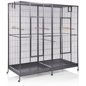 Montana Cages Vogelkäfig Sydney II - Antik, Doppelvoliere, Vogelvoliere XXL Sydney für Wellensittiche, Finken, Kanarien, Nymphensittiche