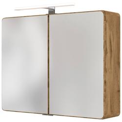 HELD MÖBEL Spiegelschrank Seattle Spiegelschrank 80 LED-Acryl-Aufbauleuchte natur