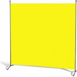 Grasekamp Stellwand 180 x 180 cm - Gelb - Paravent  Raumteiler Trennwand Sichtschutz