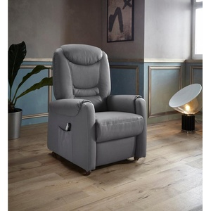 Places of Style TV-Sessel Tamworth, in Größe S, wahlweise mit Motor und Aufstehhilfe grau