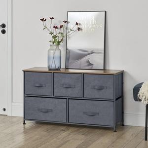 [pro.tec] Sideboard Konsole Kommode Wandschrank Wohnzimmerschrank Vlies Grau