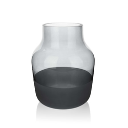 Aida Halbhohe Vase 19 cm grau