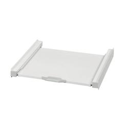 Xavax Zwischenbaurahmen für Waschmaschinen/Trockner mit Ablage Zwischenbausatz inkl. Zurrgurt weiß