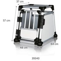 TRIXIE Transportbox Aluminium 48 57 × 64 cm