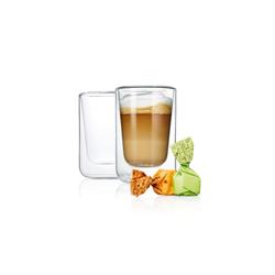 blomus 2er-Set Cappuccino Gläser Nero, 250 ml