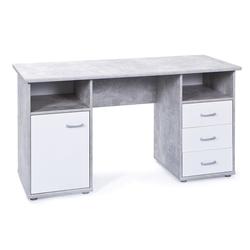 ebuy24 Schreibtisch Floza Schreibtisch 1 Tür, 3 Schubladen, 2 Fächer,