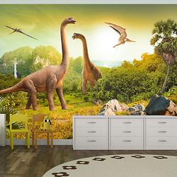 Fototapete Dinosaurier mehrfarbig Gr. 300 x 210