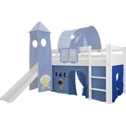3tlg. Vorhang Set Höhle Space Weltraum f. Hochbett Spielbett Vorhänge Kinderbett