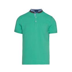 Lavard Grünes Herren-Poloshirt mit Stehkragen 72894