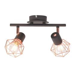 vidaXL Deckenleuchten vidaXL Deckenlampe mit 2 LED-Glühlampen 8 W