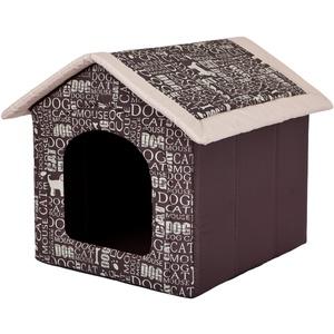 Hobbydog Hundehöhle Wörter Katzenhöhle Hundehütte Hundebett Katzenbett S-XL (XL 60x55cm)