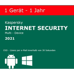 Kaspersky Internet Security 2021 1 PC / 1 Jahr !NEU! !Deutsch! mit Rechnung