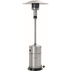 Bartscher Gas Terrassenheizstrahler, Fahrbare Standgasheizung für den Außenbereich, Höhe: 2220 mm
