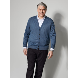 Cardigan Men Plus Blau