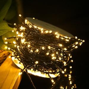 Weihnachts Lichterkette 500 LED Warmweiß Innen & Außen Party Deko 31V IP44 50m