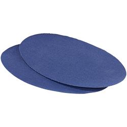 Schnellhaftende Bügelflicken aus Baumwolle, 2 Stück in blau