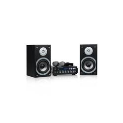 Auna Karaoke Star 3 Karaoke-Set, 2 x 75 W max., BT, USB-Port, Line-In, 2 x Mikro Party-Lautsprecher