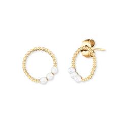Engelsrufer Paar Ohrstecker Pearls, ERE-PEARLS, ERE-PEARLS-G, mit Muschelkernperle weiß