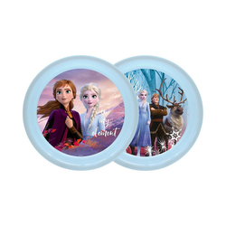 Disney Frozen Spielgeschirr Teller Eiskönigin 2 - Elsa & Olaf, 4er Set