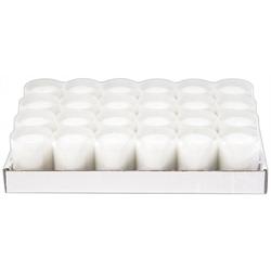 Refill Kerzen / Teelichteinsatz in Weiß, Ø50x65 mm, 24 Stück - Brenndauer ca. 24 Std.
