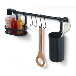Küchenreling mit Utensilienhalter