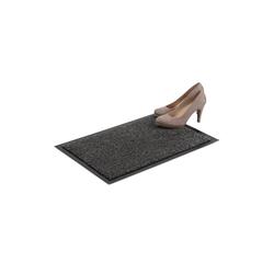 Fußmatte Schmutzfangmatte grau, relaxdays, Höhe 7 mm 60 cm x 40 cm x 7 mm