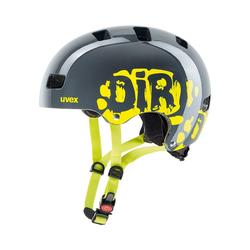 Uvex Kinderfahrradhelm Fahrradhelm Kid3 dirtbike grey-lime 51-55 55-58